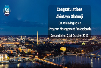 Congratulations Akintayo on Achieving PgMP..!